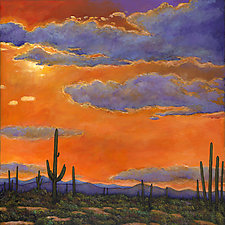 Saguaro Sunset by Johnathan  Harris (Giclee Print)