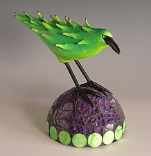 Lime Time by Patty Carmody Smith (Mixed-Media Sculpture)