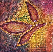 Turning Leaf by Patty Carmody Smith (Mixed-Media Wall Sculpture)