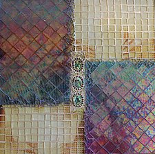 Buttoned Up by Patty Carmody Smith (Mixed-Media Wall Sculpture)