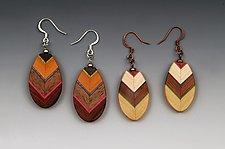Leaf Earrings by Martha Collins (Wood Earrings)