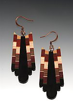 Mosaic Earrings by Martha Collins (Wood Earrings)