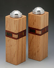 Bold Mosaic Salt and Pepper Shakers by Martha Collins (Wood Salt and Pepper Shakers)