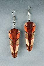 Path Earrings by Martha Collins (Wood Earrings)