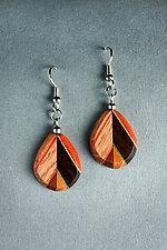 Alternate Leaf Earrings by Martha Collins (Wood Earrings)