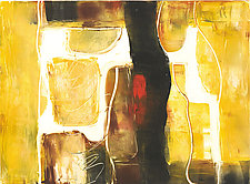 Out West by Carole Guthrie (Monotype Print)