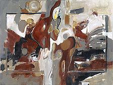 White Rhythms by Carole Guthrie (Acrylic Painting)