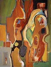 Two Figures by Carole Guthrie (Acrylic Painting)
