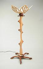 Floor Lamp #4 by Charles Adams (Wood Floor Lamp)