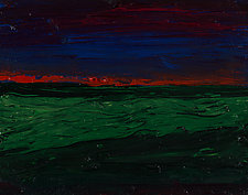 Camargue at Sunset by Jonathan Herbert (Oil Painting)
