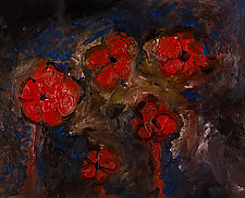 Mediterranean Poppies by Jonathan Herbert (Oil Painting)