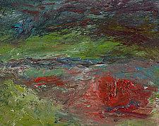 Montauk Lake in the Fog by Jonathan Herbert (Oil Painting)