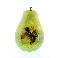 Sculpted Pear by Clinton Smith (Art Glass Paperweight)