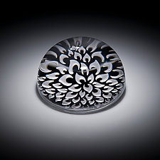 Dahlia Paperweight by Carrie Gustafson (Art Glass Paperweight)