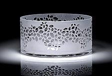 Straight-Sided Petal Bowl by Carrie Gustafson (Art Glass Bowl)