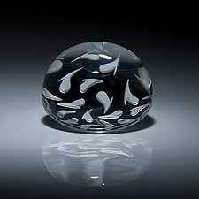 Heart Paperweight by Carrie Gustafson (Art Glass Paperweight)