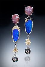 Opal and Pearl Earrings by Leann Feldt (Gold, Silver, Stone & Pearl Earrings)