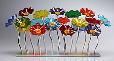 Prism-Colored Garden Centerpiece by Scott Johnson and Shawn Johnson (Art Glass Sculpture)