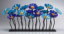 Nautical Garden Table Centerpiece by Scott Johnson and Shawn Johnson (Art Glass Sculpture)