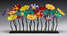 Surprise Garden Table Centerpiece by Scott Johnson and Shawn Johnson (Art Glass Sculpture)