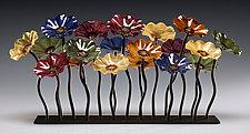 Bourbon Garden Table Centerpiece by Scott Johnson and Shawn Johnson (Art Glass Sculpture)