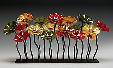 Breckenridge Glass Flower Garden by Scott Johnson and Shawn Johnson (Art Glass Sculpture)
