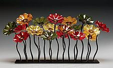 Breckenridge Glass Flower Garden by Scott Johnson and Shawn Johnson (Art Glass Sculpture)