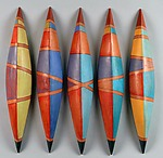 Skiffs Nine by Liza  Halvorsen (Ceramic Wall Sculpture)