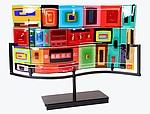Carnival Wave by Helen Rudy  (Art Glass Sculpture)