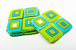 Spring Green Retro Coasters by Helen Rudy  (Art Glass Coasters)