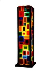 Carnival Table Lamp by Helen Rudy (Art Glass Table Lamp)