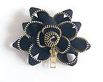 Black Zipper Pin by Kate Cusack (Zippered Brooch)