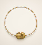 Double Ball Bead with Greek Gold Finish by Nancy Worden (Gold & Copper Necklace)