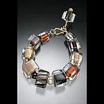 Chunkie Brindle Pearl Bracelet by Ricky Bernstein (Beaded Bracelet)