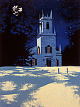 Guilford Night by William Hays (Linocut Print)