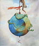 Above the Tree of Knowledge by T.W. Wolff (Giclee Print)