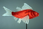 Prosperity Koi Light Sculpture by Lara Fisher (Mixed-Media Lamp)
