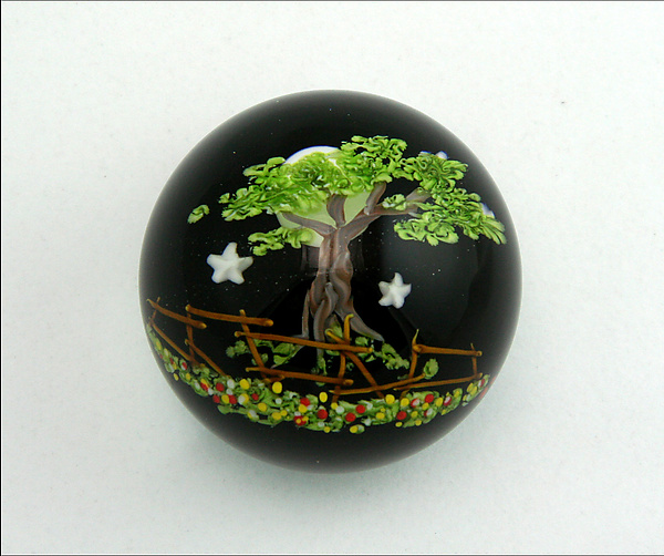 Midnight Tree Paperweight