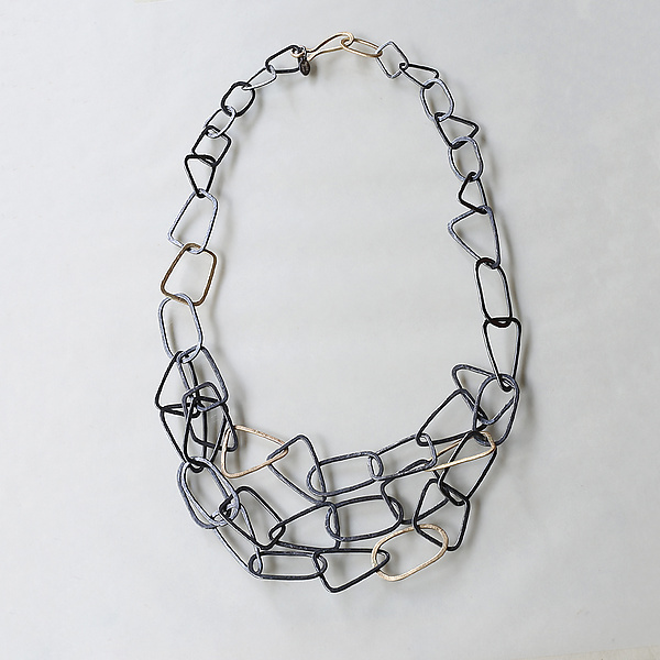 Gold Shape Statement Necklace