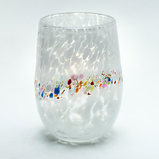 Stemless Wine Glass by Bryan Goldenberg (Art Glass Drinkware)