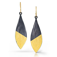 Midas Leaf Earrings by Kendra Renee (Gold & Silver Earrings)