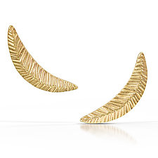 Woven Crescent Posts by Kendra Renee (Gold Earrings)