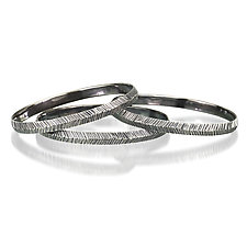 Woven Silver Bangle by Kendra Renee (Silver Bracelet)