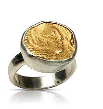 Alexander the Great Ring by Nancy Troske (Gold & Silver Ring)