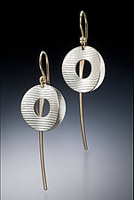 Kissing Disk by Carolyn Zakarija (Gold & Silver Earrings)
