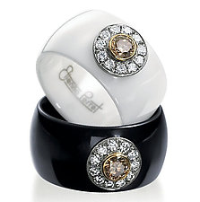 Ceramique Daisy Diamond Ring by Etienne Perret (Ceramic & Stone Ring)