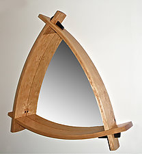 Triangle Mirror by Todd  Bradlee (Wood Mirror)
