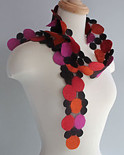 Potpourri Scarf by Mila Sherrer  (Silk and Wool Scarf)
