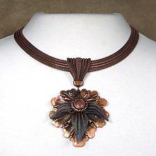Maple Leaf Pendant Necklace by Sarah Cavender (Metal Necklace)