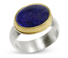Tanzanite Cabochon Ring by Nancy Troske (Gold, Silver & Stone Ring)